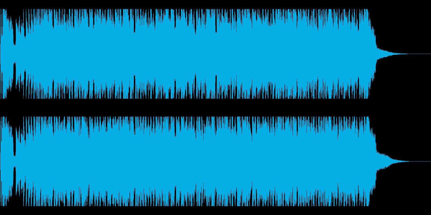 アイドル風の賑やかなロックインストの再生済みの波形