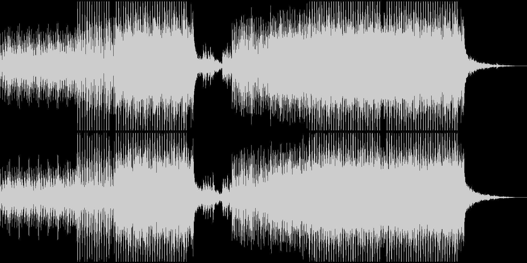 ミステリー風ダウンテンポBGMの未再生の波形