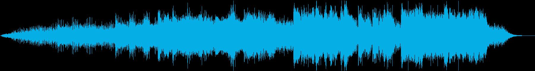 ノイジーで抽象的な実験的な楽曲の再生済みの波形