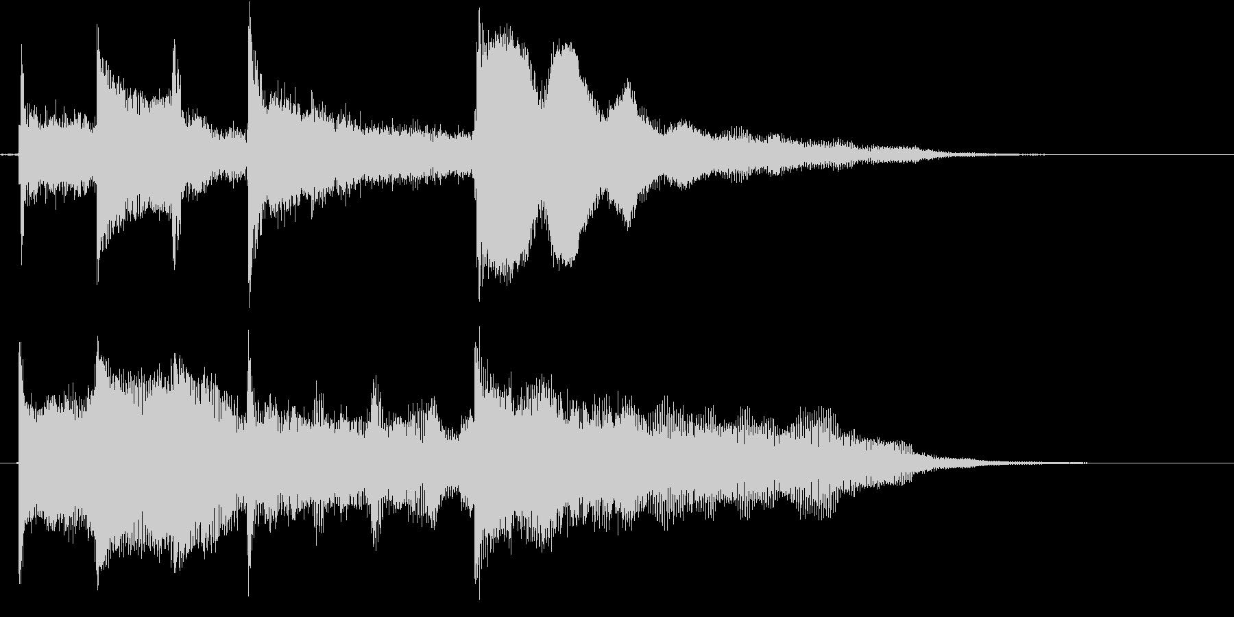 シンプル&スタンダードで使いやすいロゴの未再生の波形