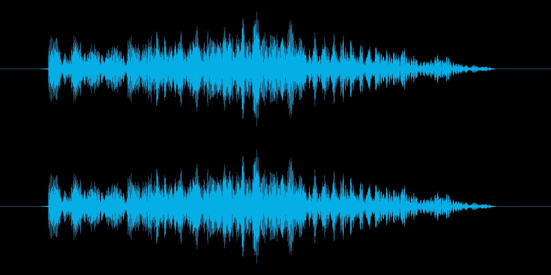 カーソル移動(格闘ゲーム風)の再生済みの波形