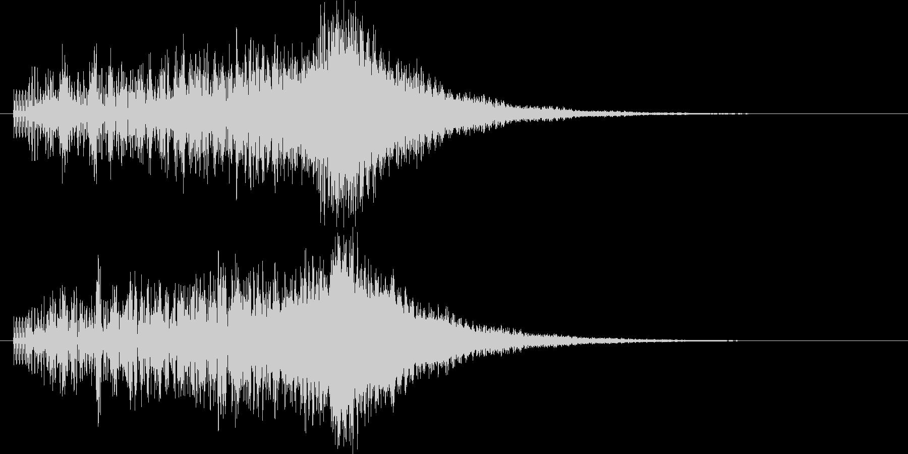 上昇音 チャララン キラキラの未再生の波形