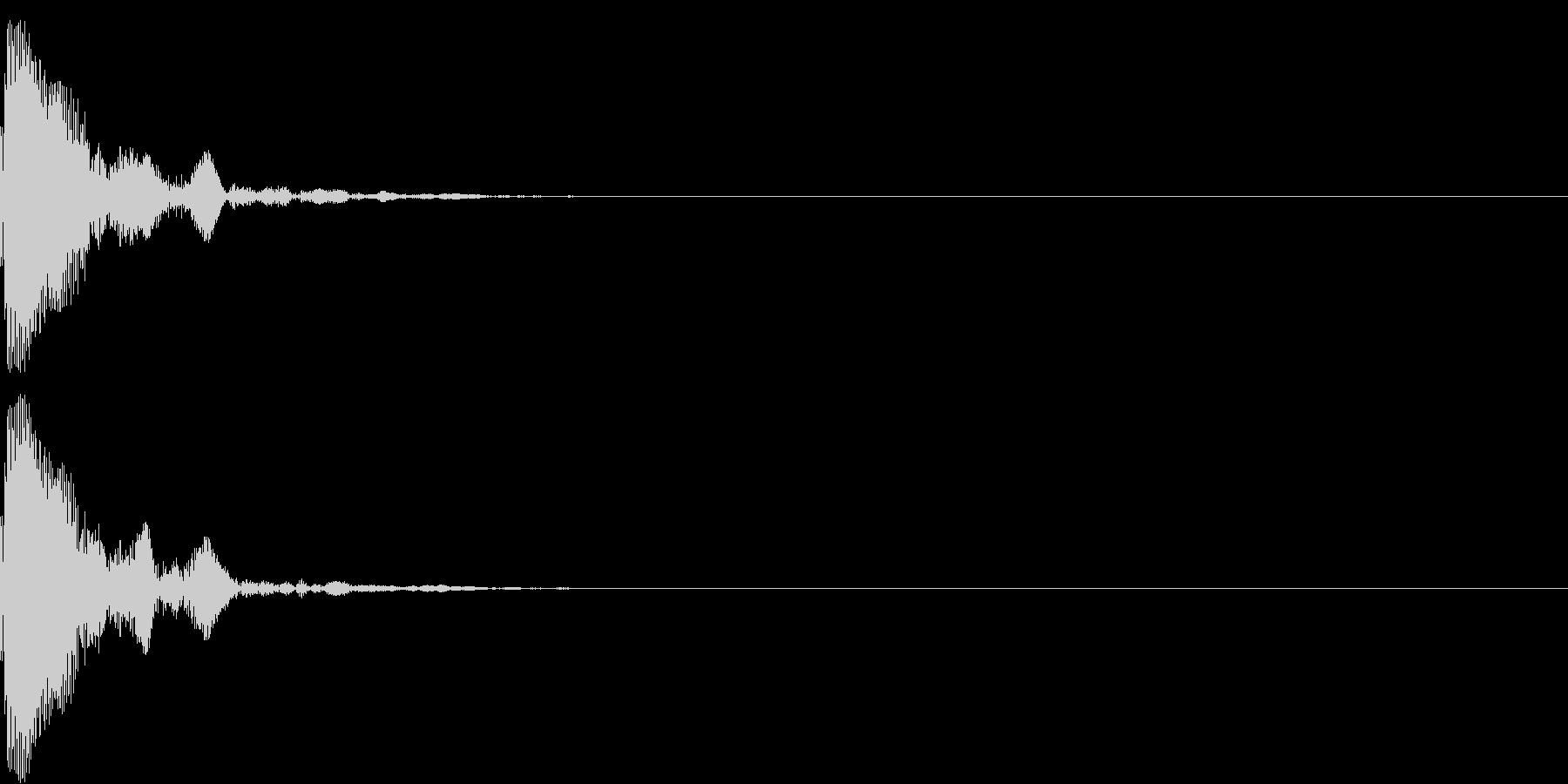 ポン(鼓の音・低め) の未再生の波形