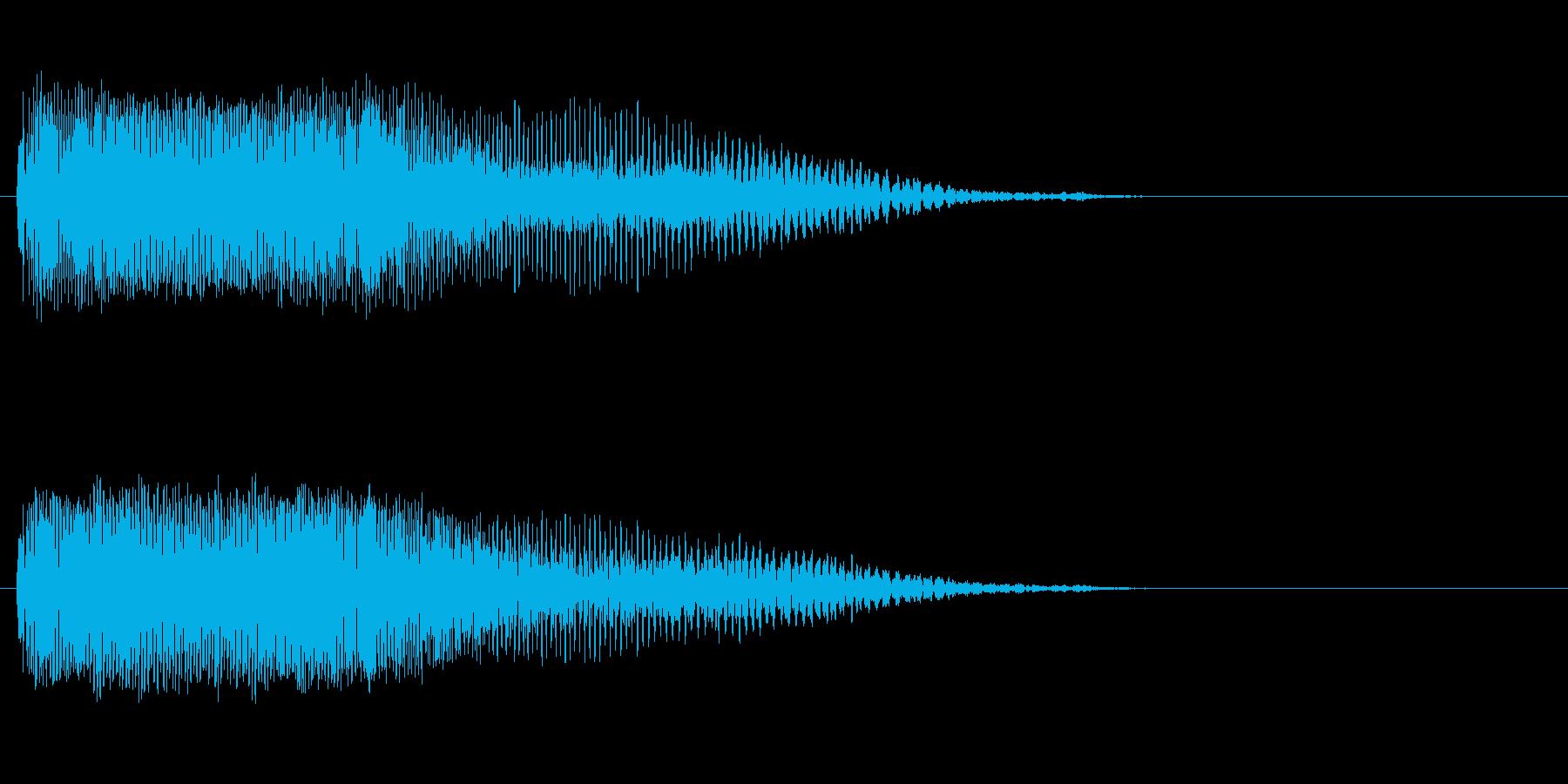 「ピーッ〜!」警笛による鳥の鳴き声の擬音の再生済みの波形