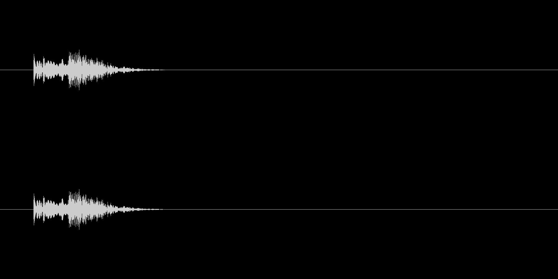 【アクセント33-2】の未再生の波形