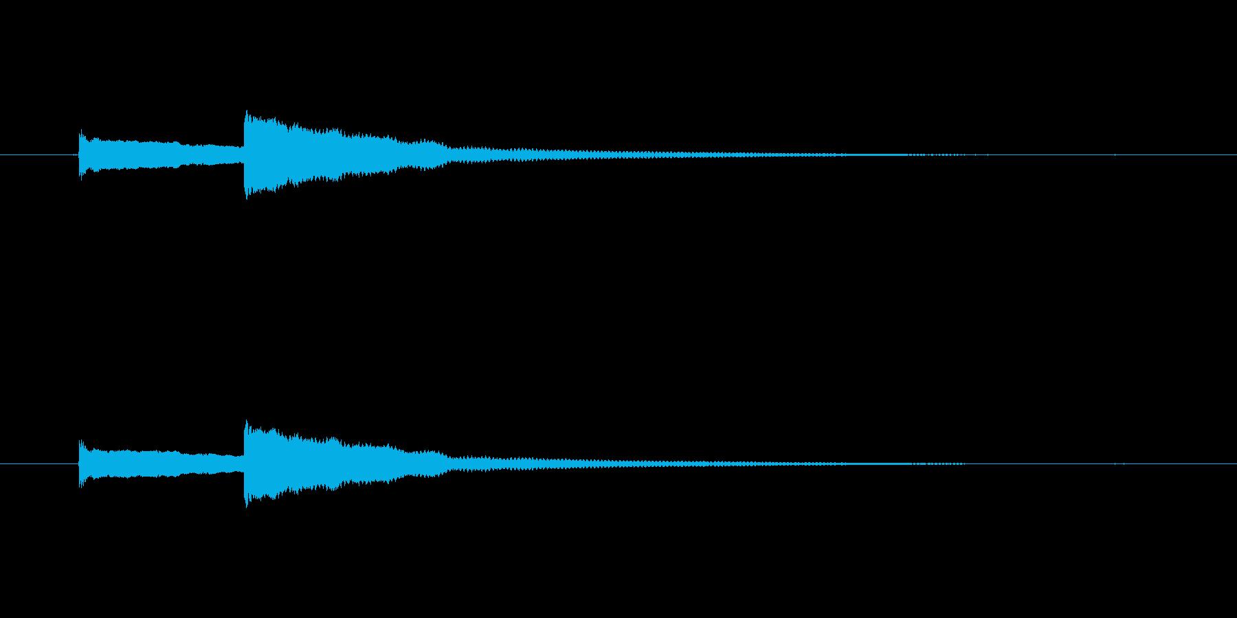 呼び出し音の再生済みの波形