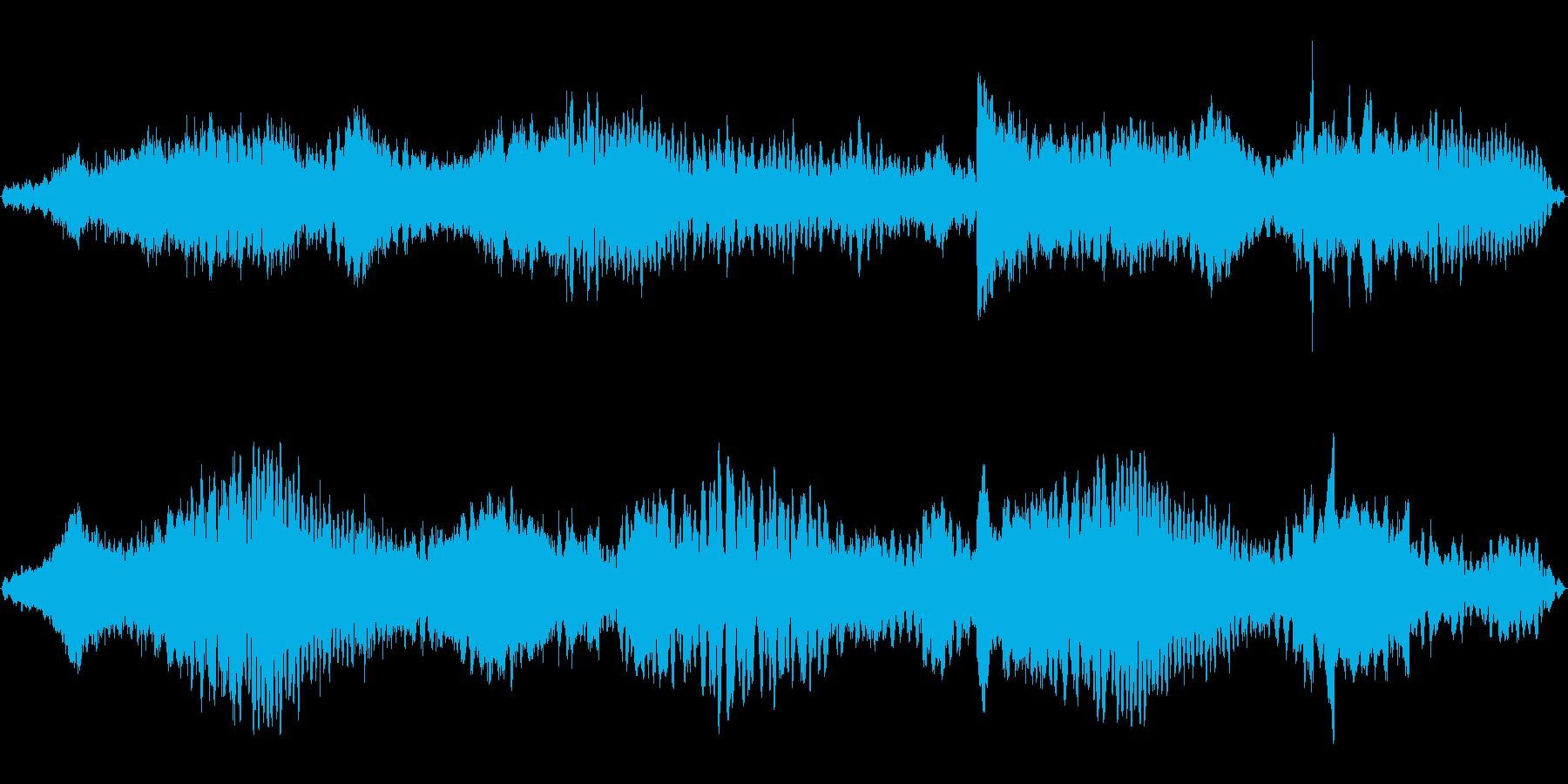 静かに不気味なホラー系BGM(ループ)の再生済みの波形