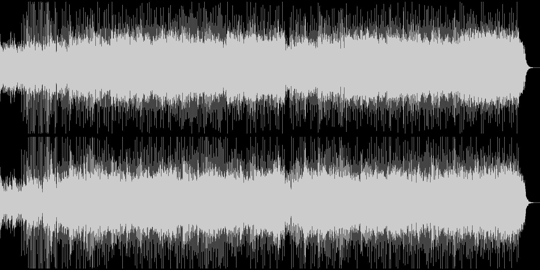 サイバーパンクな和風のダークBGMの未再生の波形