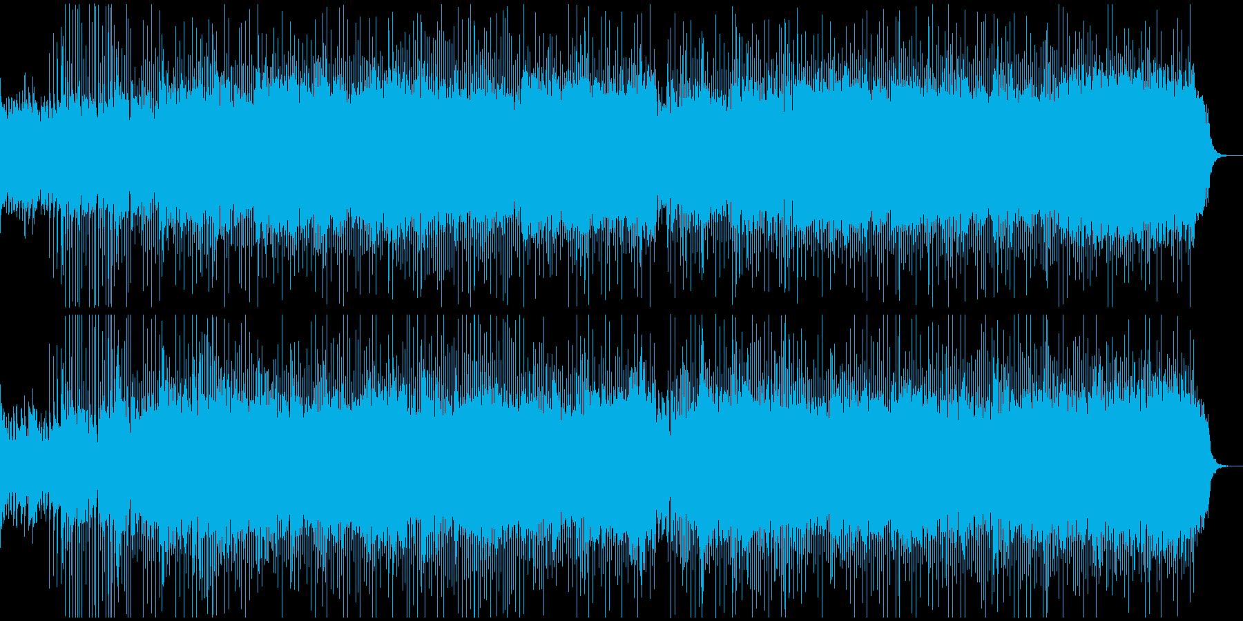 サイバーパンクな和風のダークBGMの再生済みの波形