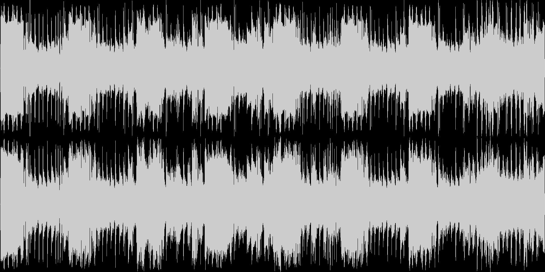 サスペンス系BGMループ音源の未再生の波形