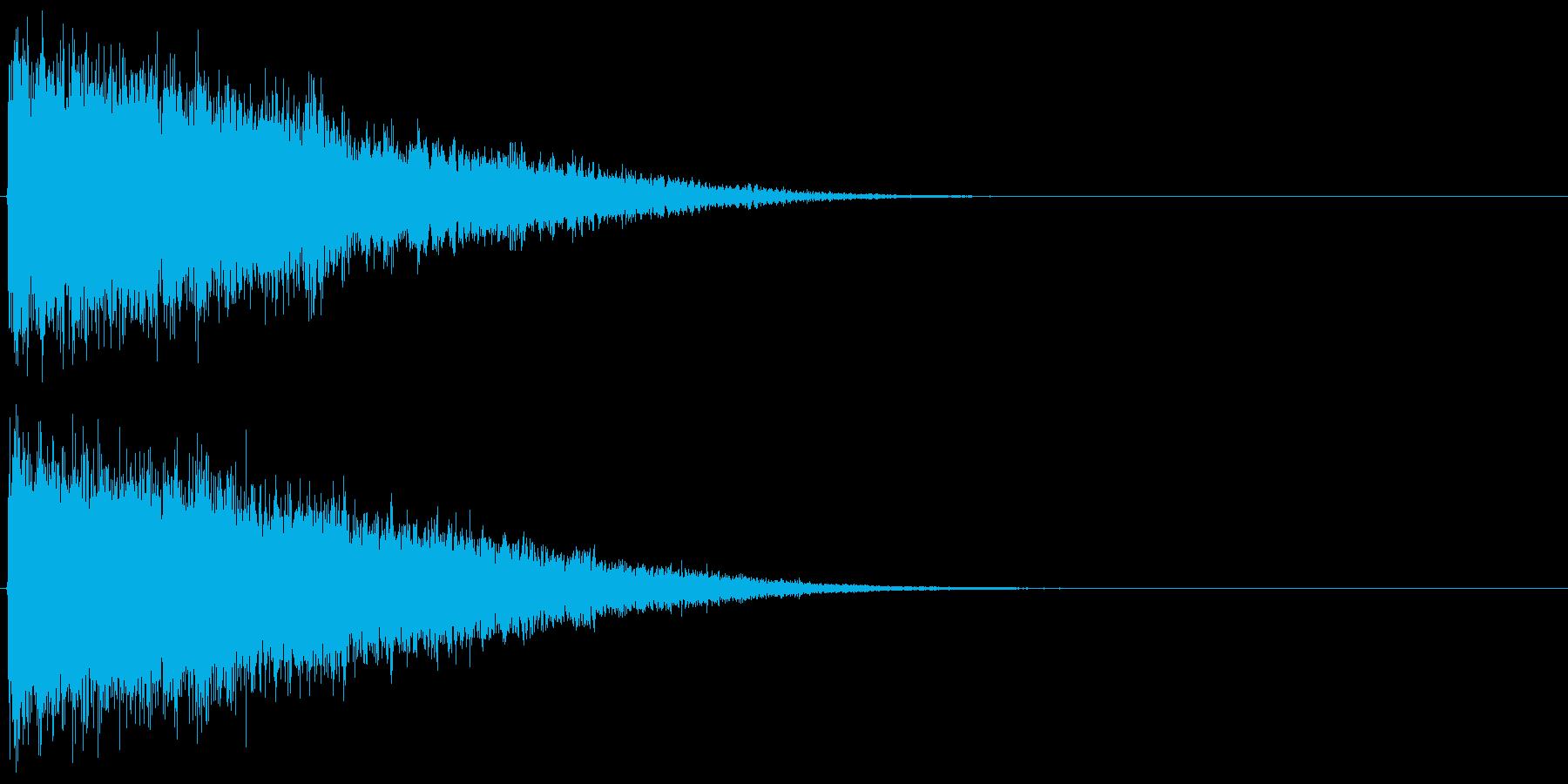 強_ドドドパキーンの再生済みの波形