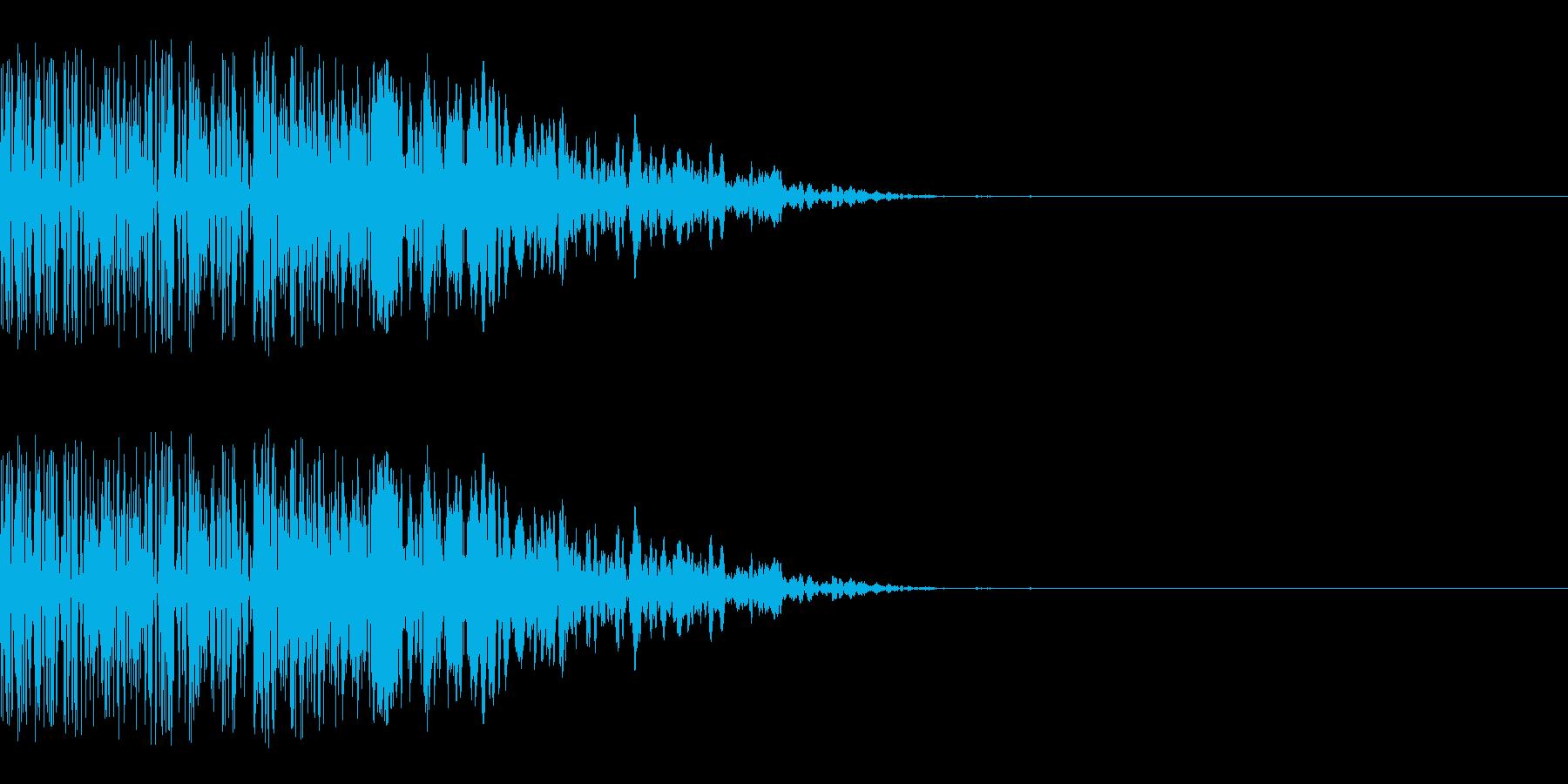カキーン(決定音/刀/和風/アプリ)の再生済みの波形