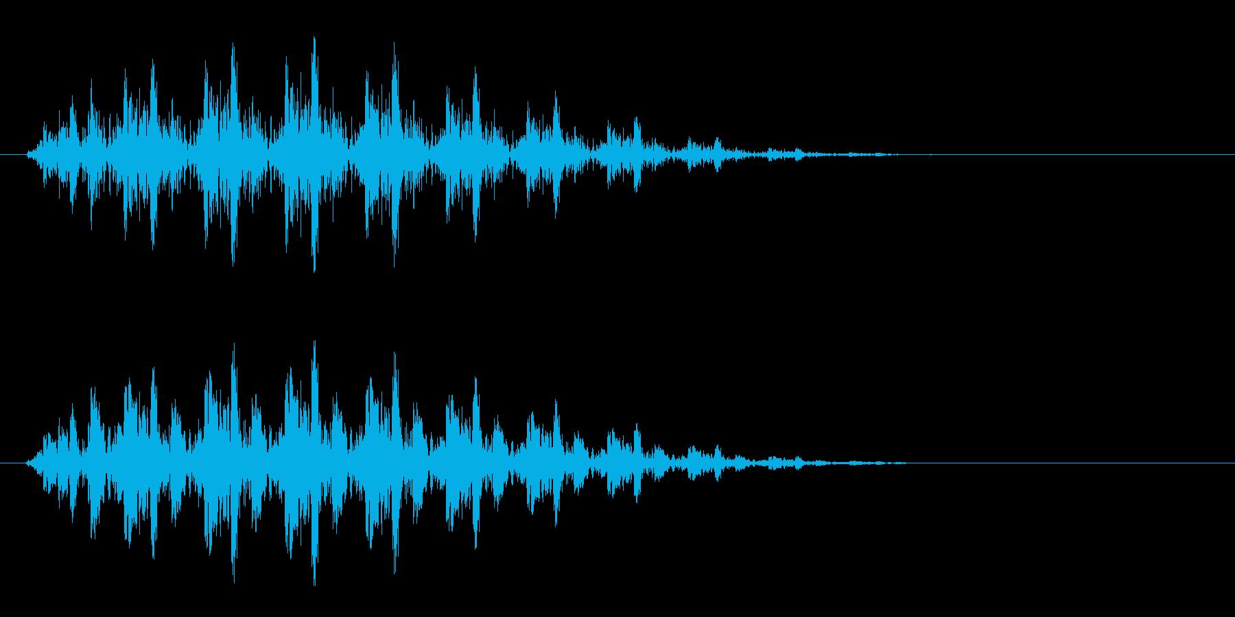 ビヨヨン(短いバネ)の再生済みの波形