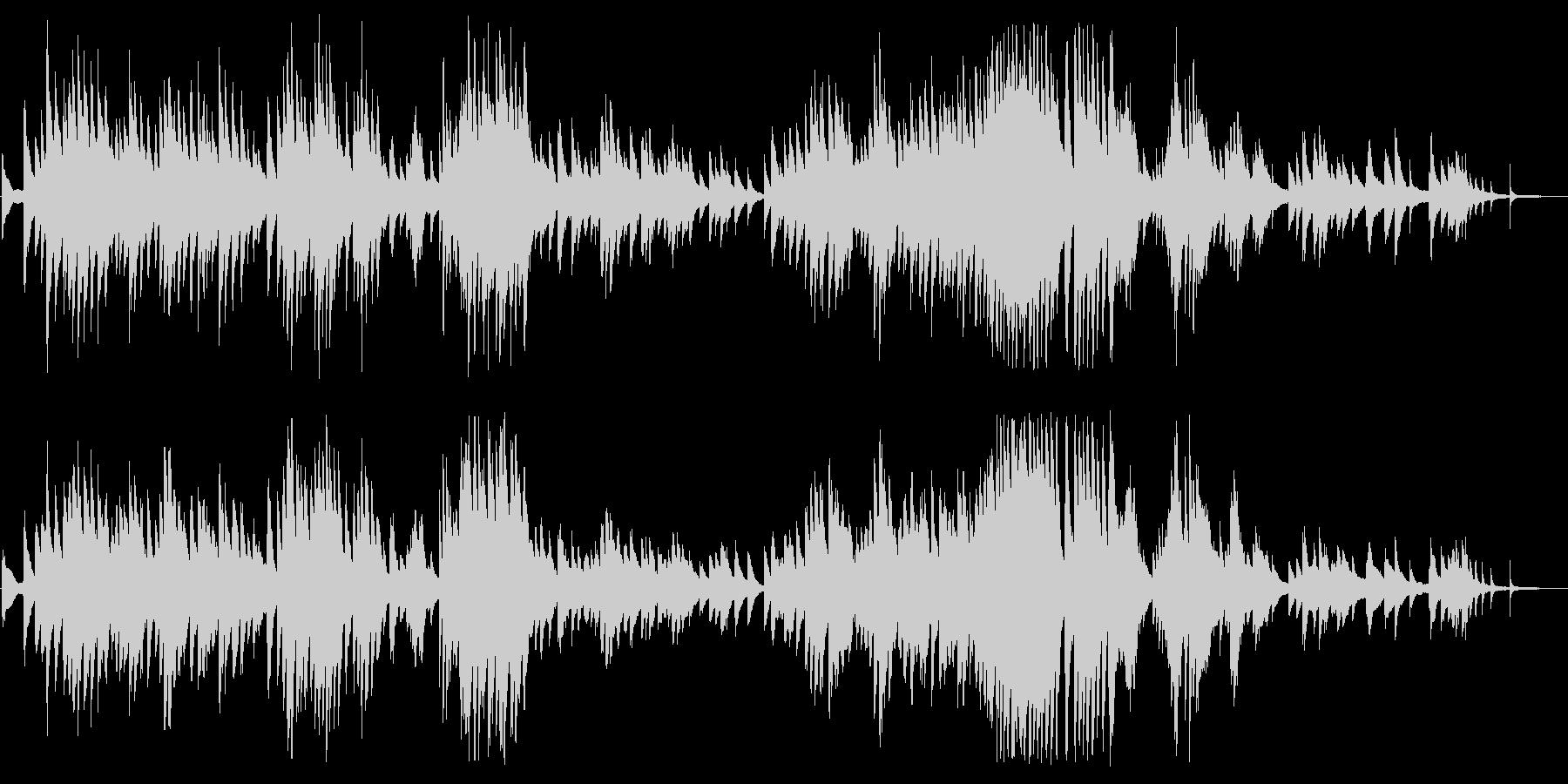 ショパン「別れの曲」カバーBGMの未再生の波形