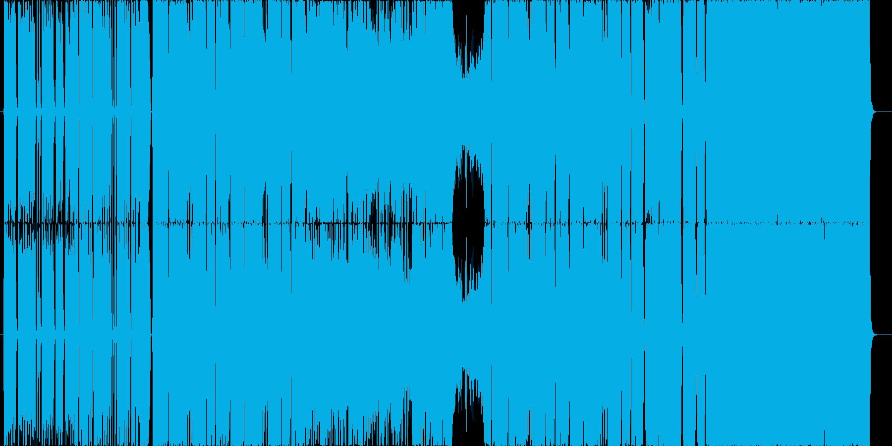 ギターリフ押し爽やかなダンスロックの再生済みの波形