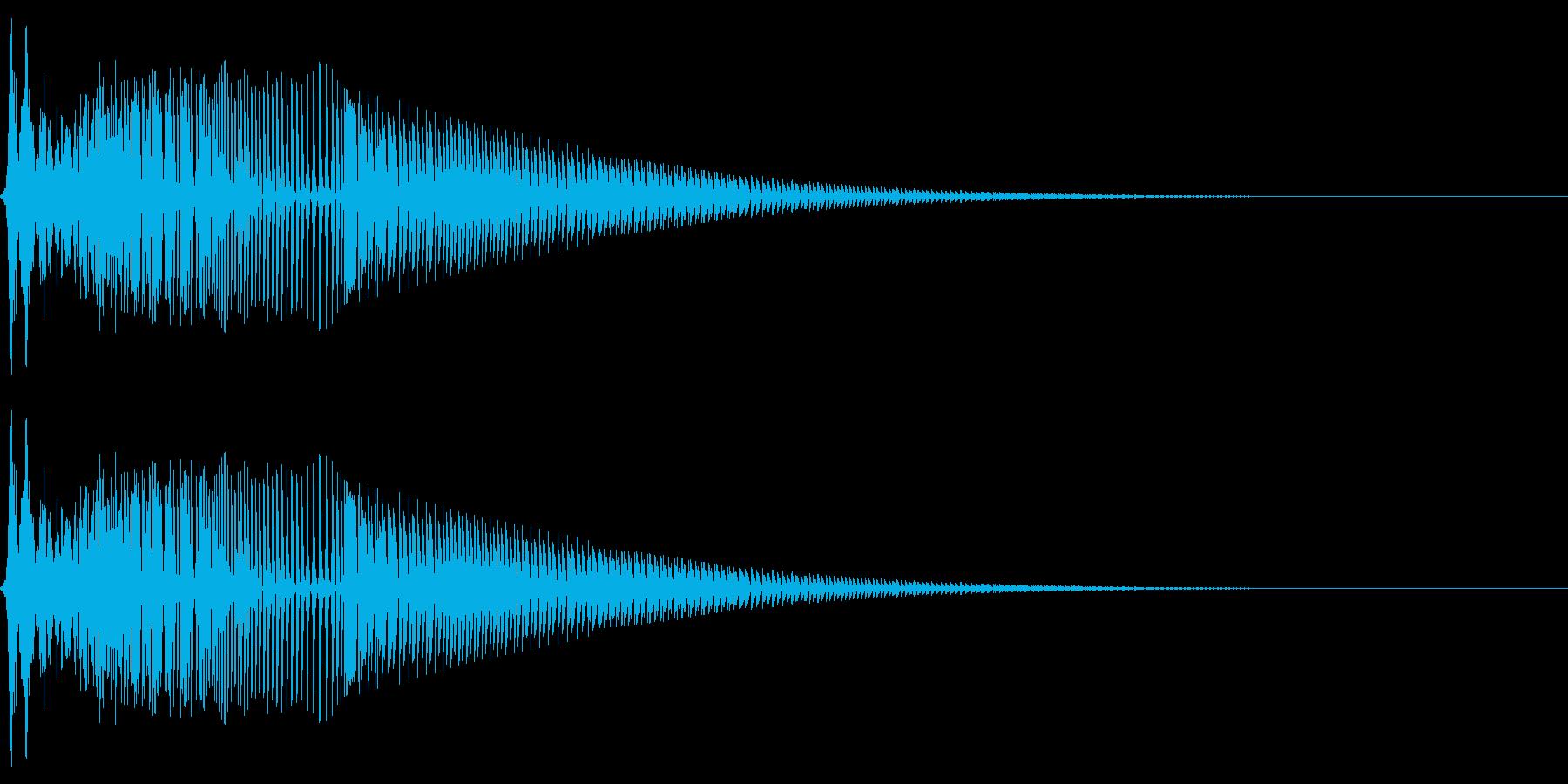 ボタン押下や決定音_ボヨン!の再生済みの波形