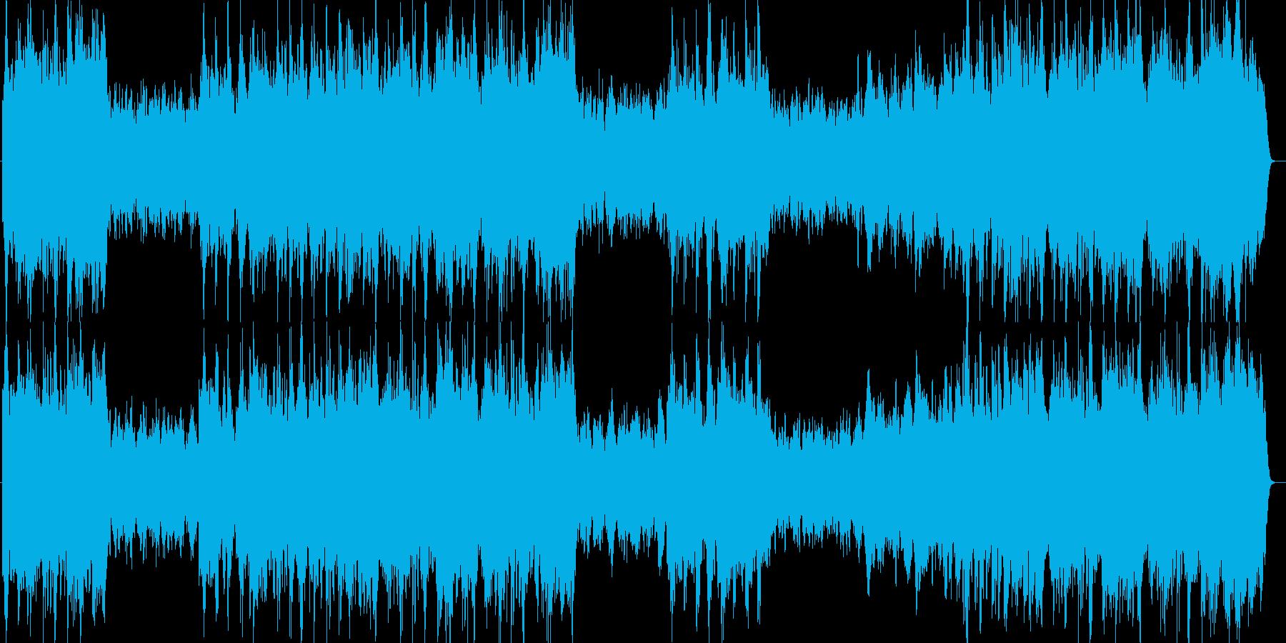感動的で雄大なシンセ・管楽器・ピアノの再生済みの波形