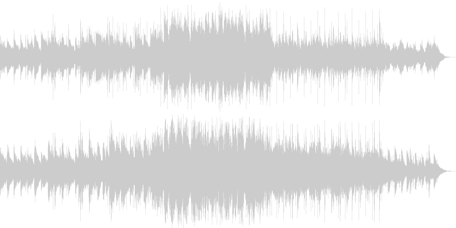 ほのぼのとふわり感ある曲の未再生の波形