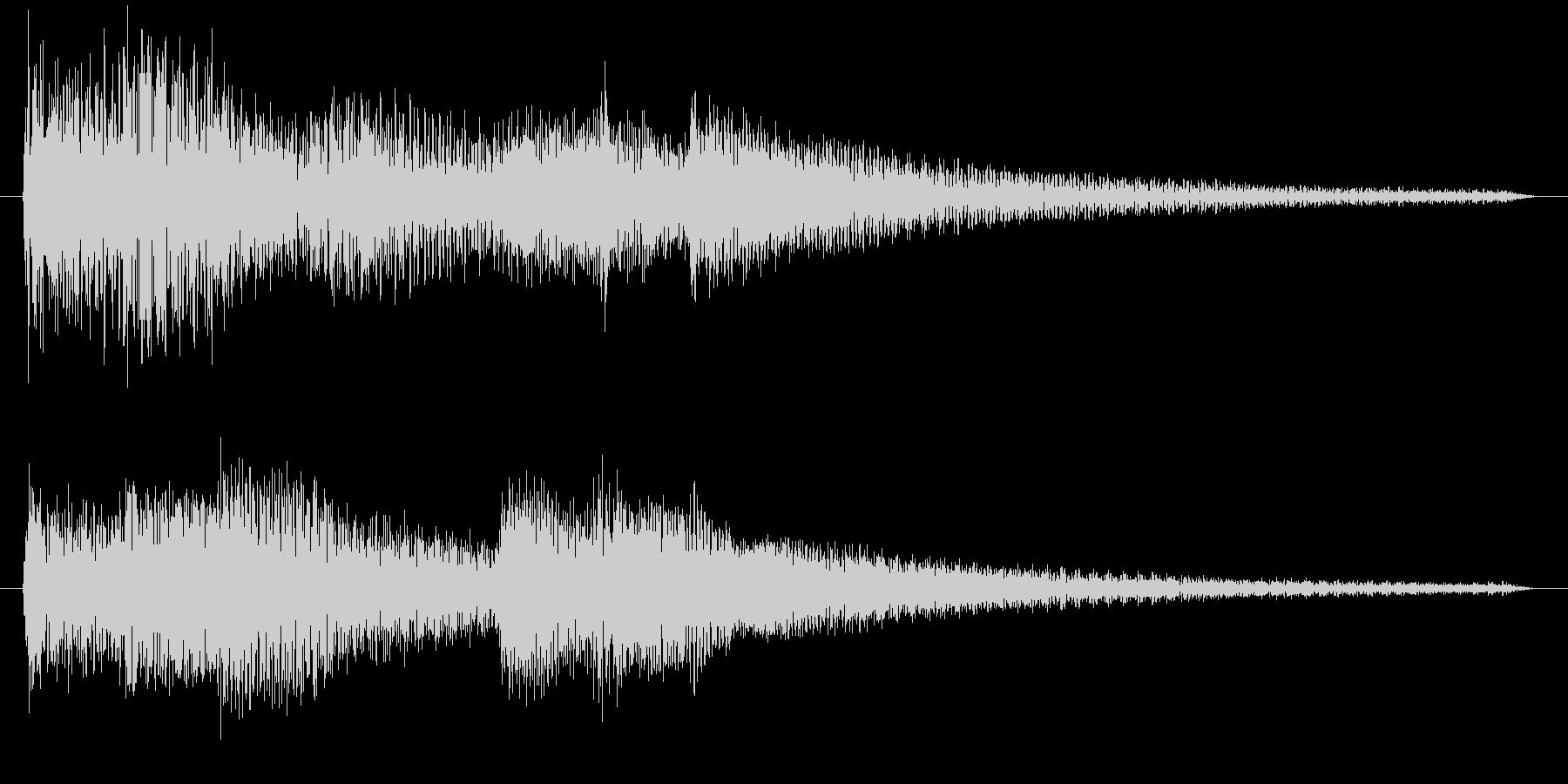 ピアノの音の未再生の波形