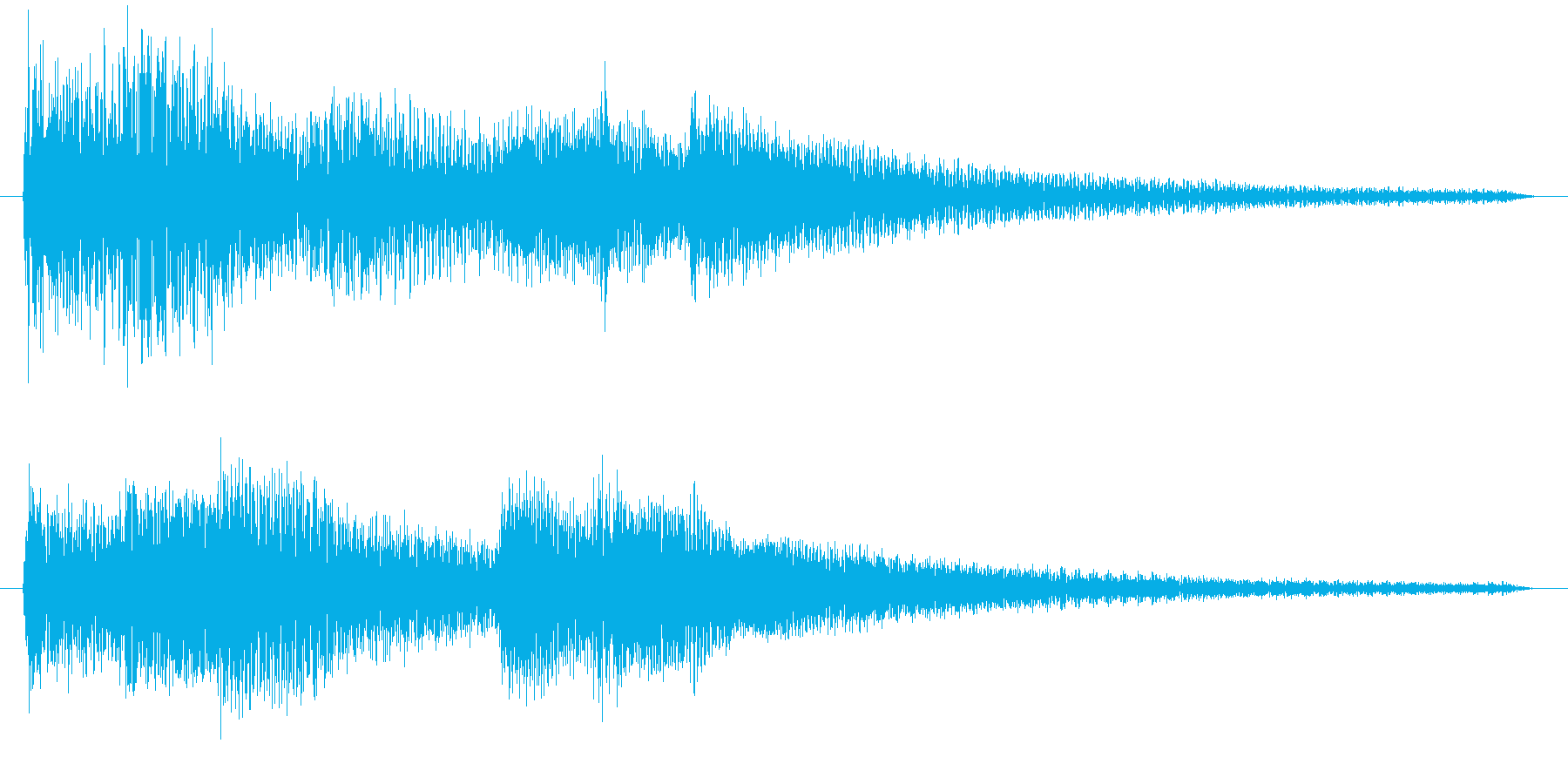 ピアノの音の再生済みの波形