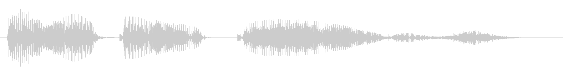 あなたのターンですの未再生の波形