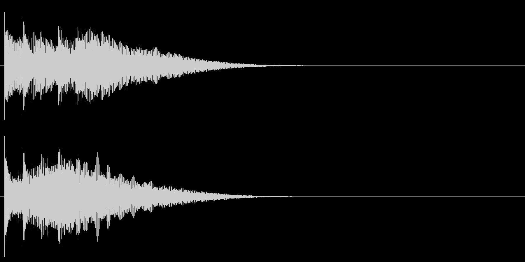 フレーズ系10 文字、スーパー表示(複)の未再生の波形