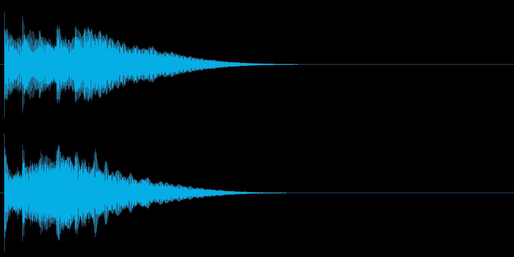 フレーズ系10 文字、スーパー表示(複)の再生済みの波形