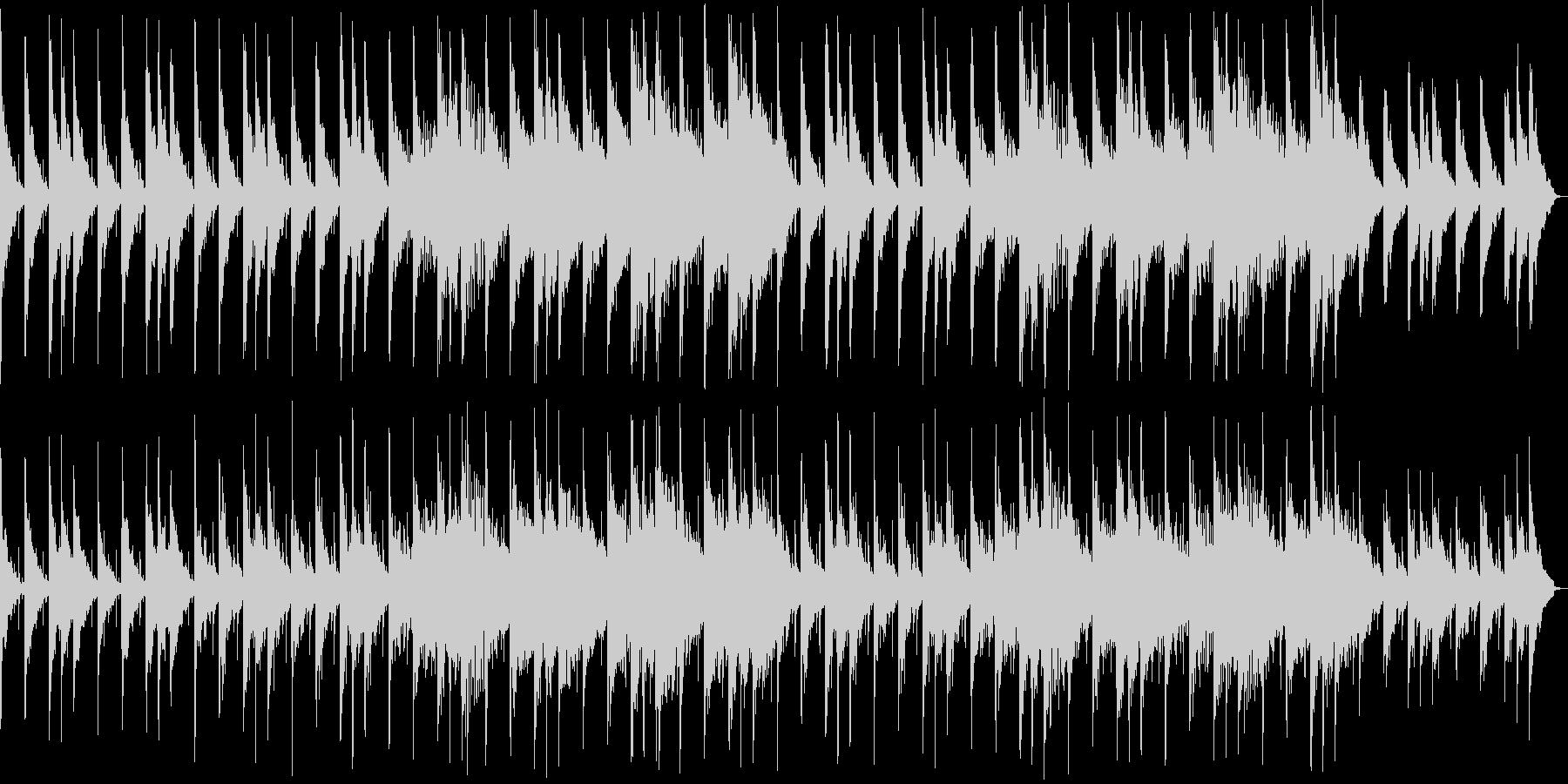 優しい印象のシンセサイザーサウンドの未再生の波形