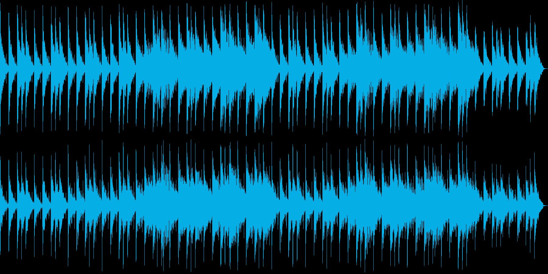 優しい印象のシンセサイザーサウンドの再生済みの波形