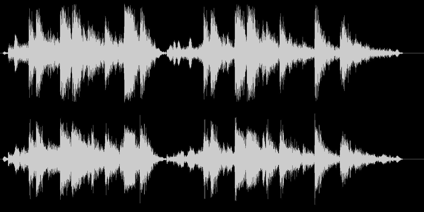 ガチャガチャ(機械が動く音)の未再生の波形