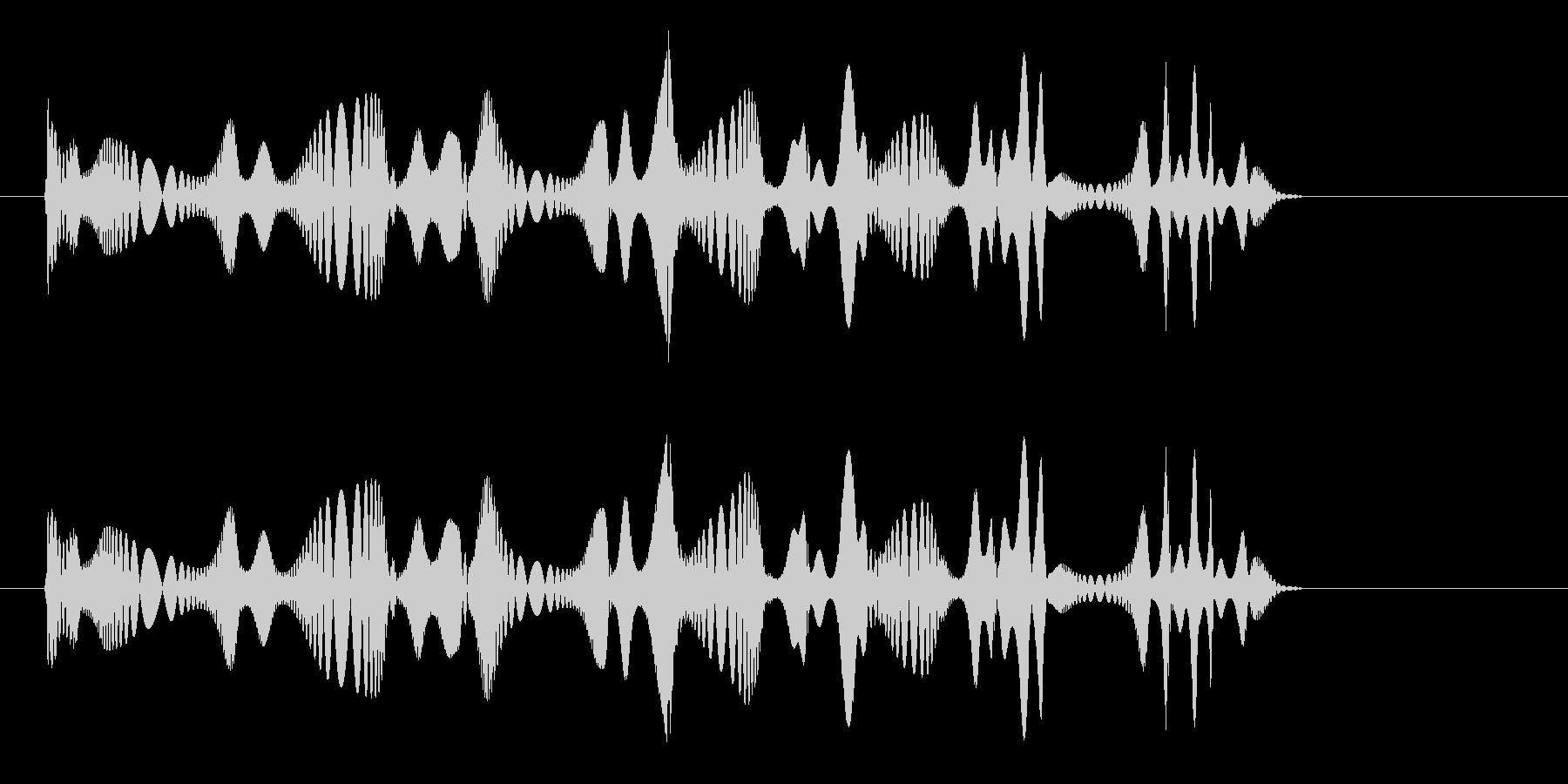 マウスの鳴き声や逃げる時の効果音の未再生の波形