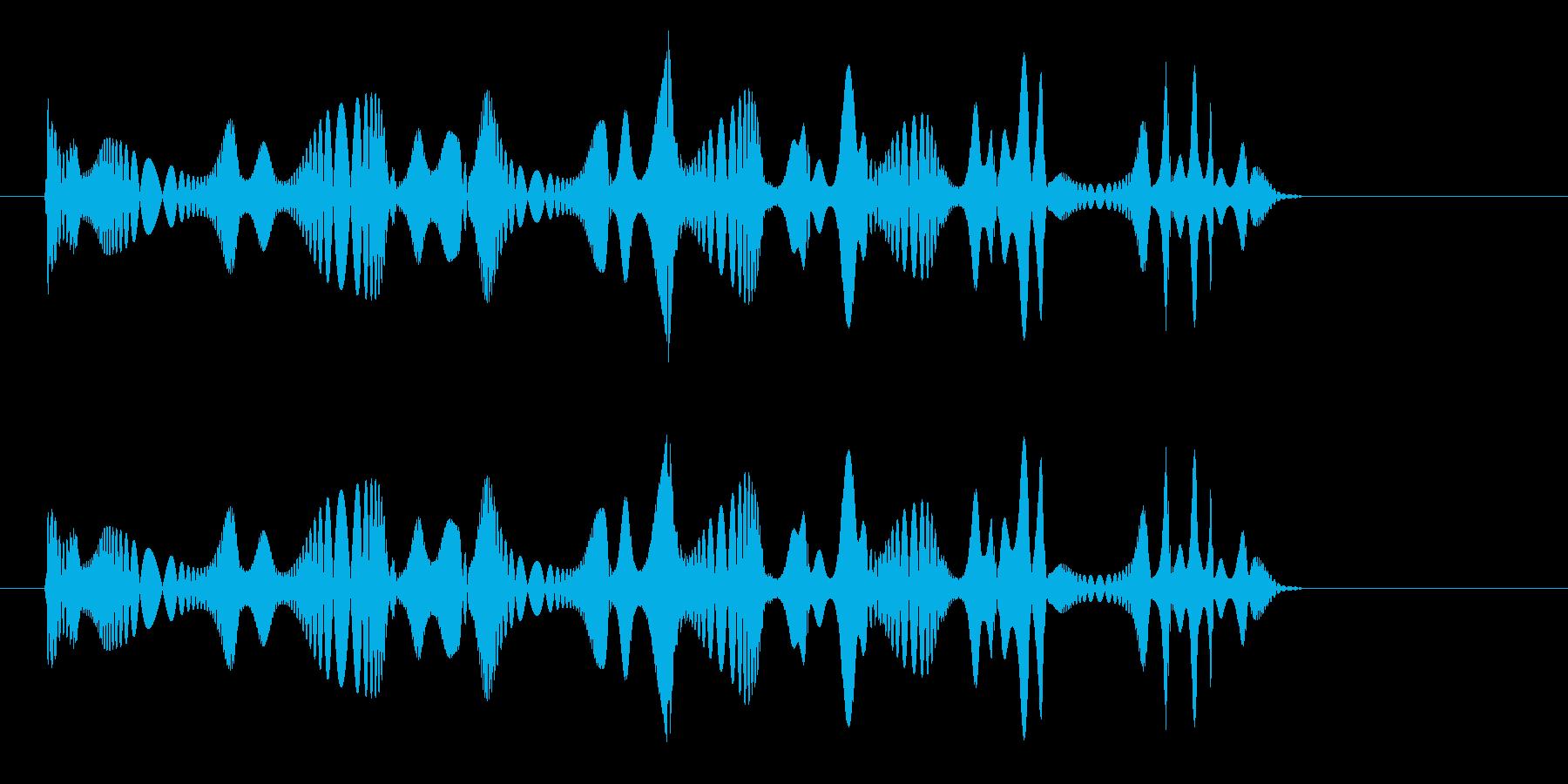 マウスの鳴き声や逃げる時の効果音の再生済みの波形