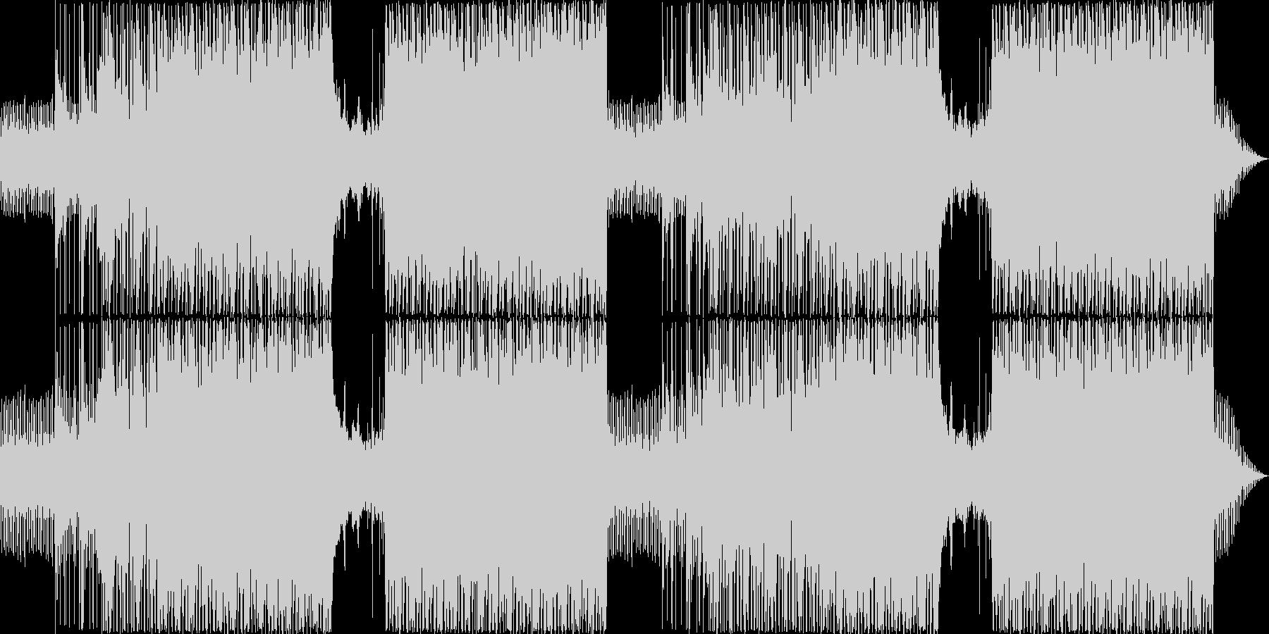 推理シーンにぴったりのミステリアスな曲の未再生の波形