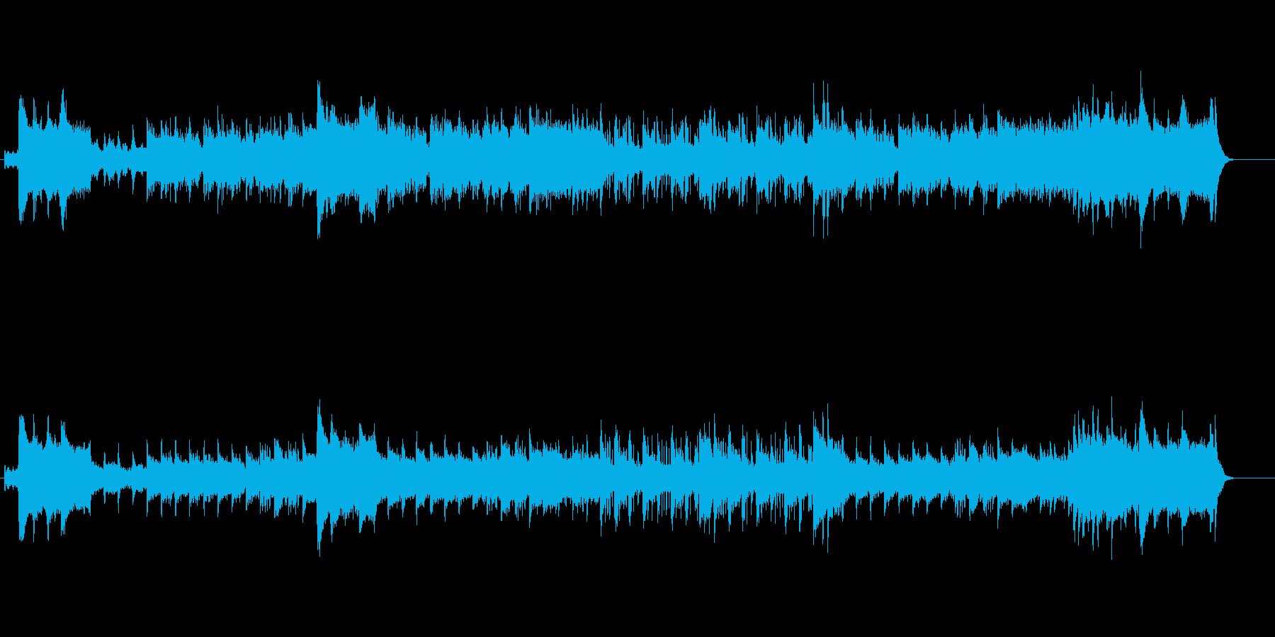 郷愁をかきたてる映画音楽風サウンドの再生済みの波形