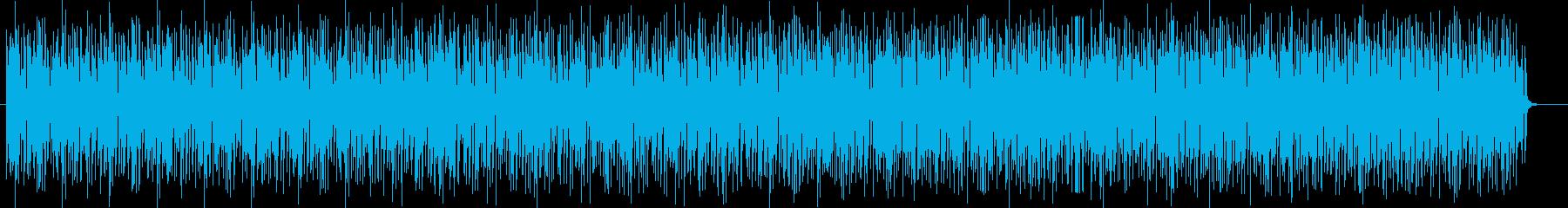楽しげでおしゃれなシンセサイザーテクノの再生済みの波形