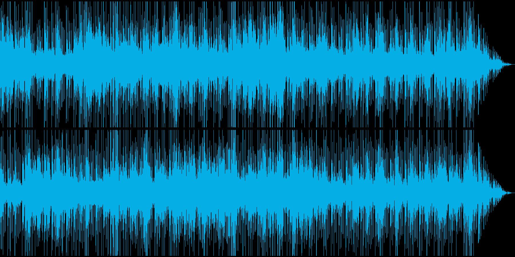 緊迫・単調なリズムのシリアス場面BGMの再生済みの波形