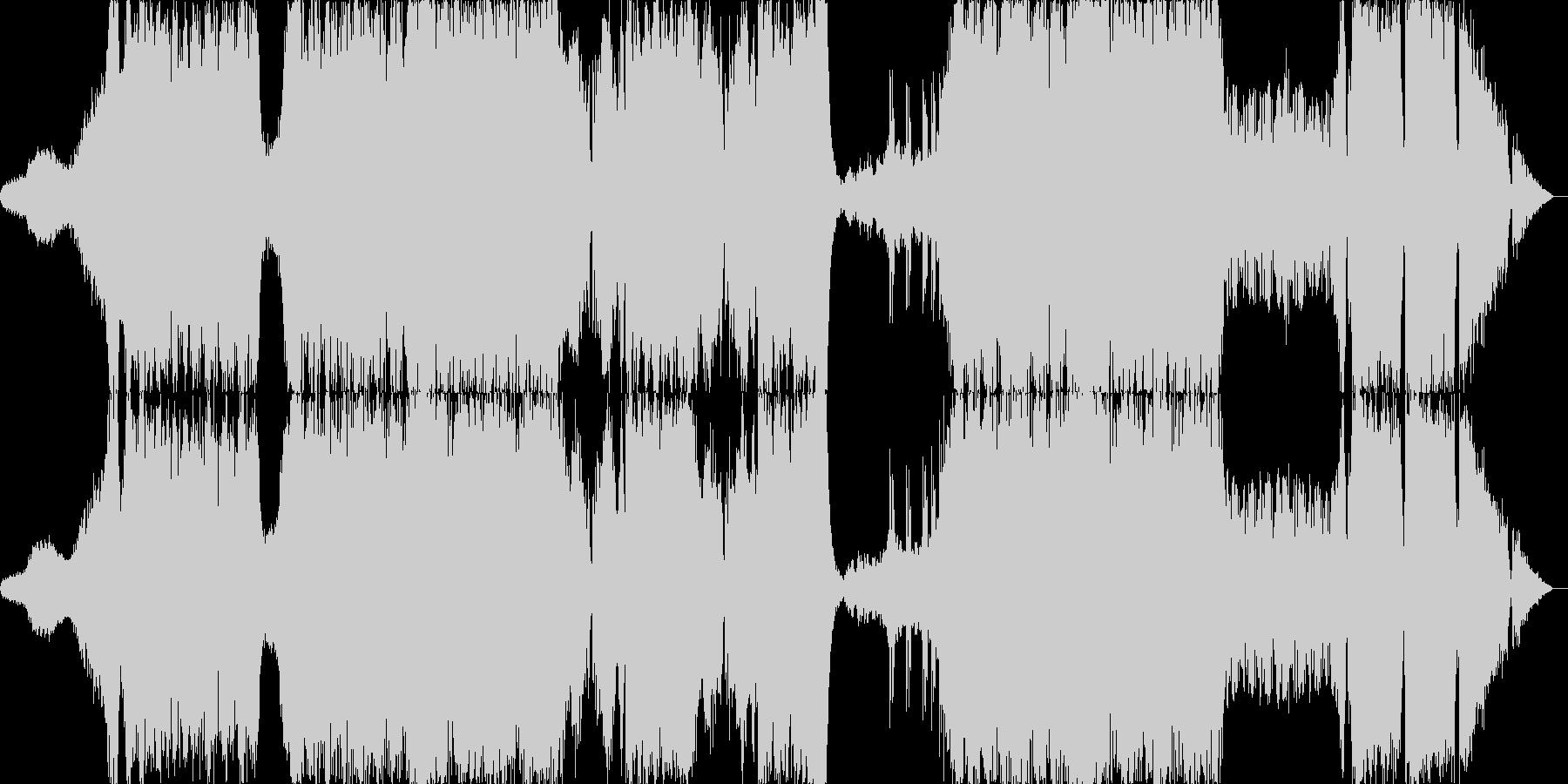 アクションスコア風戦闘曲の未再生の波形