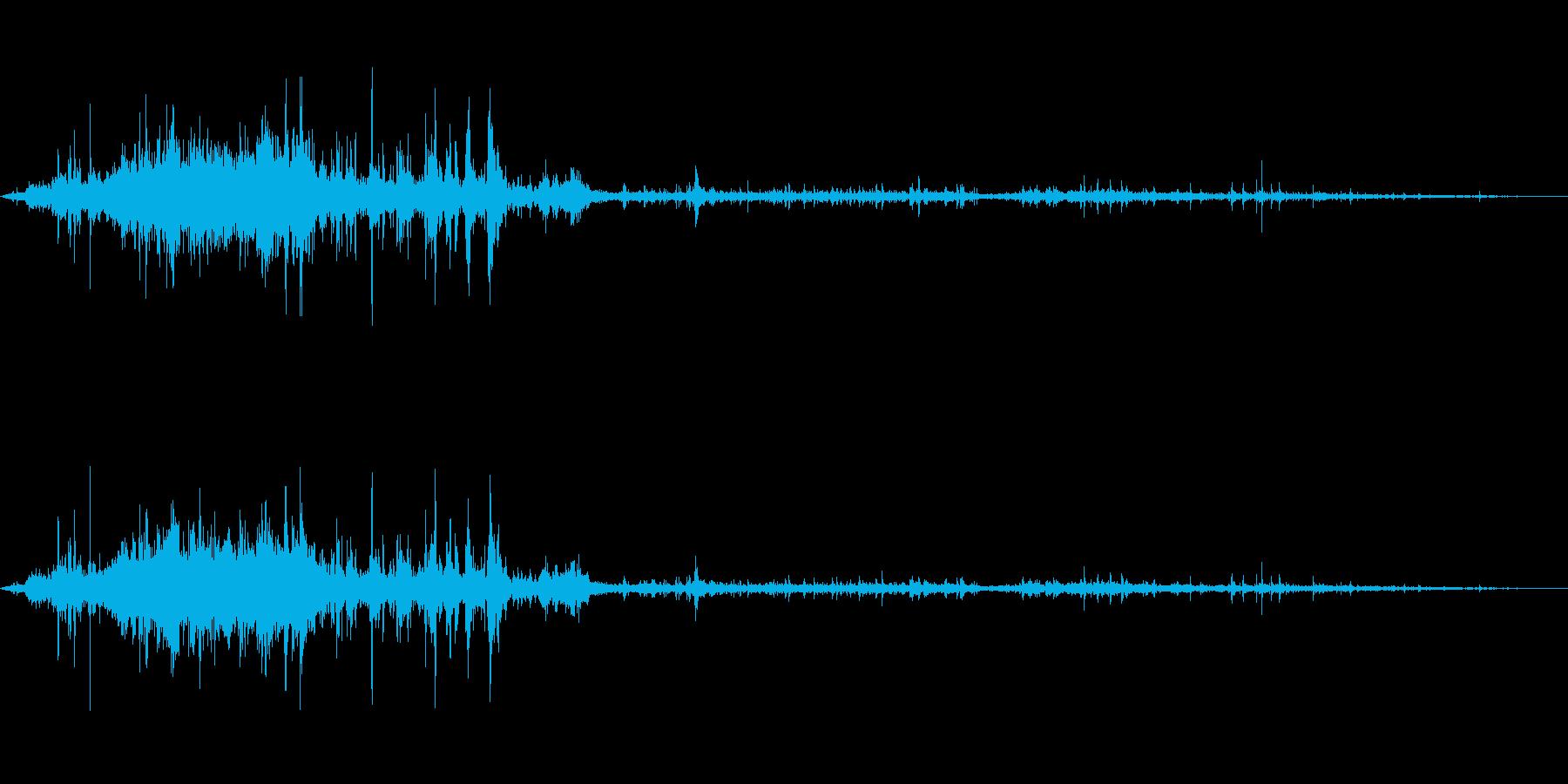 ジャバジャバ☆シンクに水を流す音の再生済みの波形