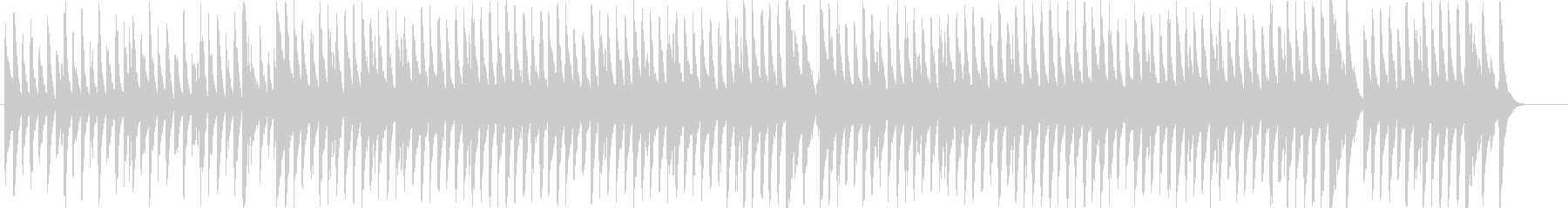 クリスマスソング「ジングルベル」の未再生の波形