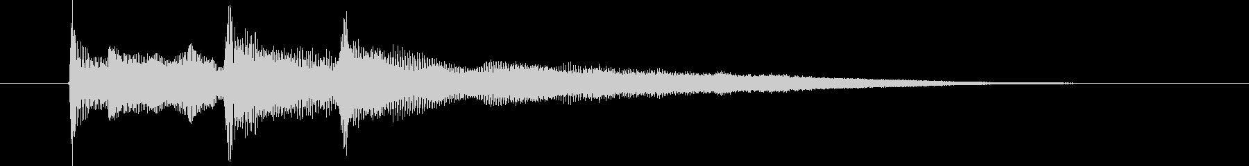 落ち着いたリラクゼーション音楽の未再生の波形