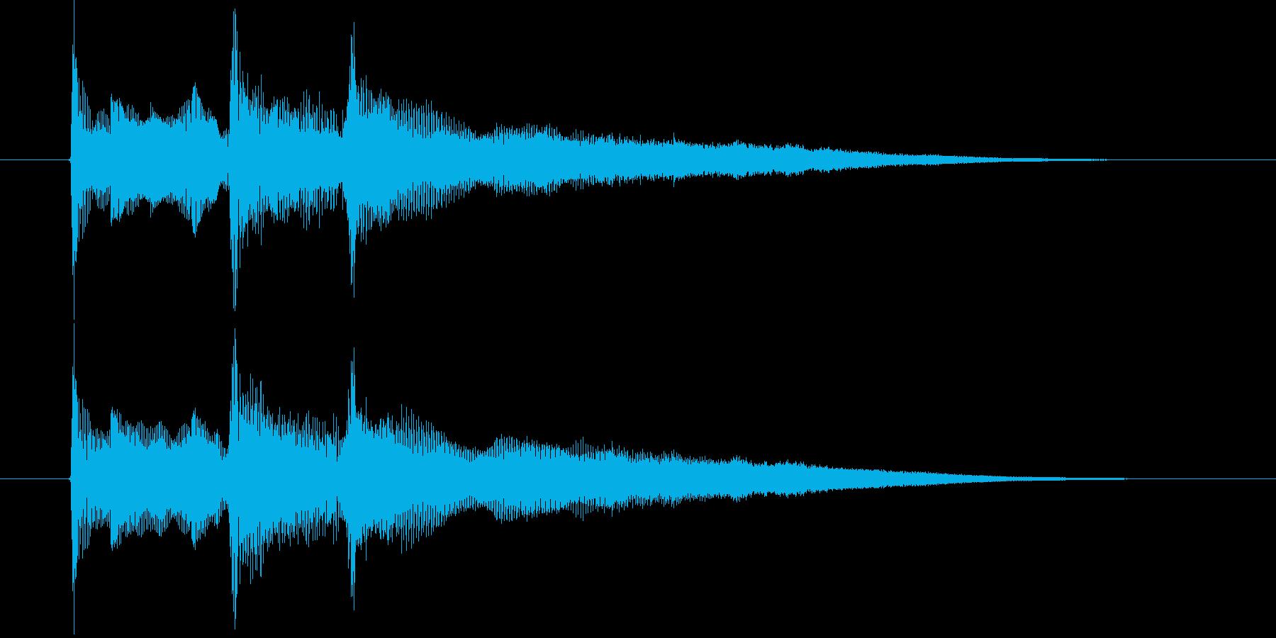 落ち着いたリラクゼーション音楽の再生済みの波形