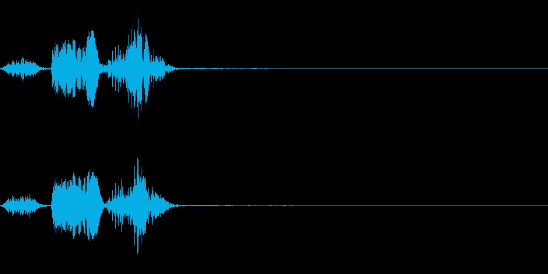 ボイス_英語_スピードアップの再生済みの波形