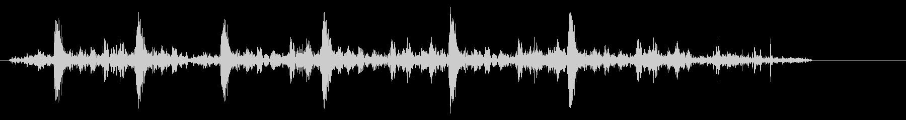 ダダダダッ (連射型の銃声音)の未再生の波形