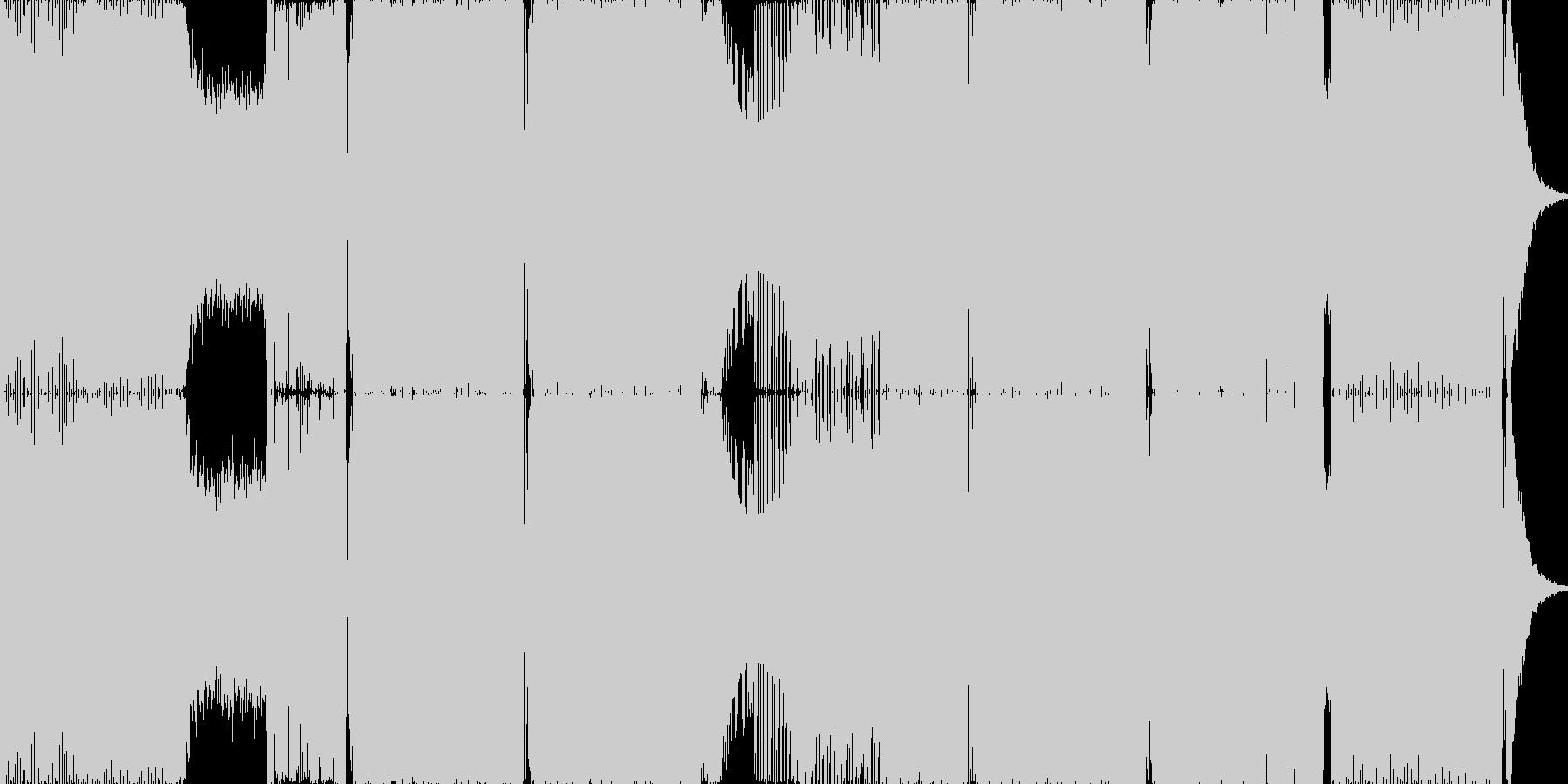 2015年代のハウス系EDMの未再生の波形