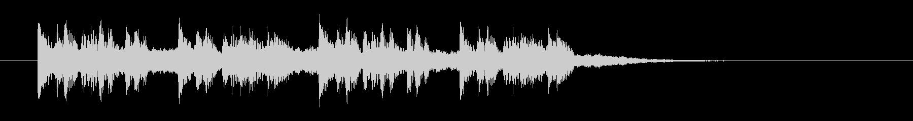 シンセサイザーのクールなミュージックの未再生の波形