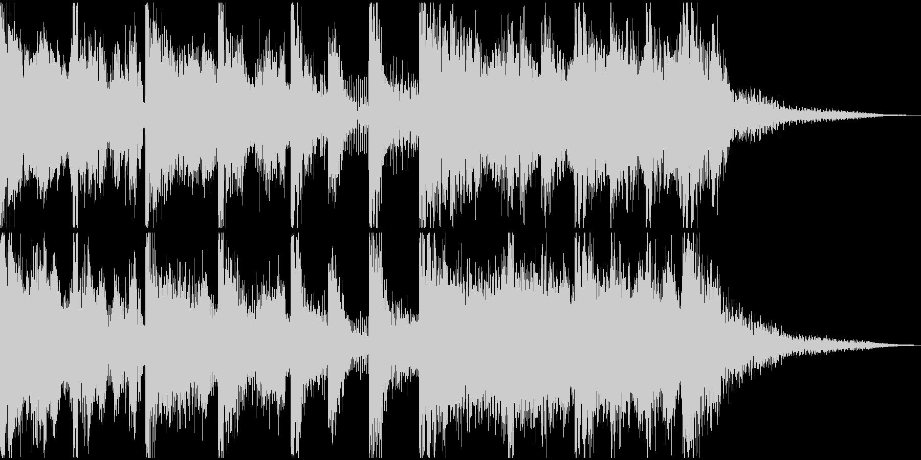 始まりための壮大かつ簡潔なファンファーレの未再生の波形