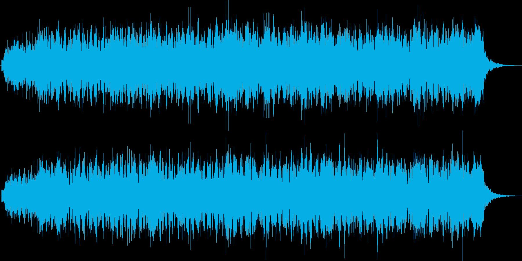 シンセによるキラキラしたジングルの再生済みの波形