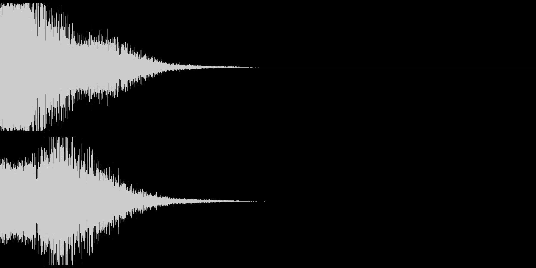 近未来の機械音01の未再生の波形
