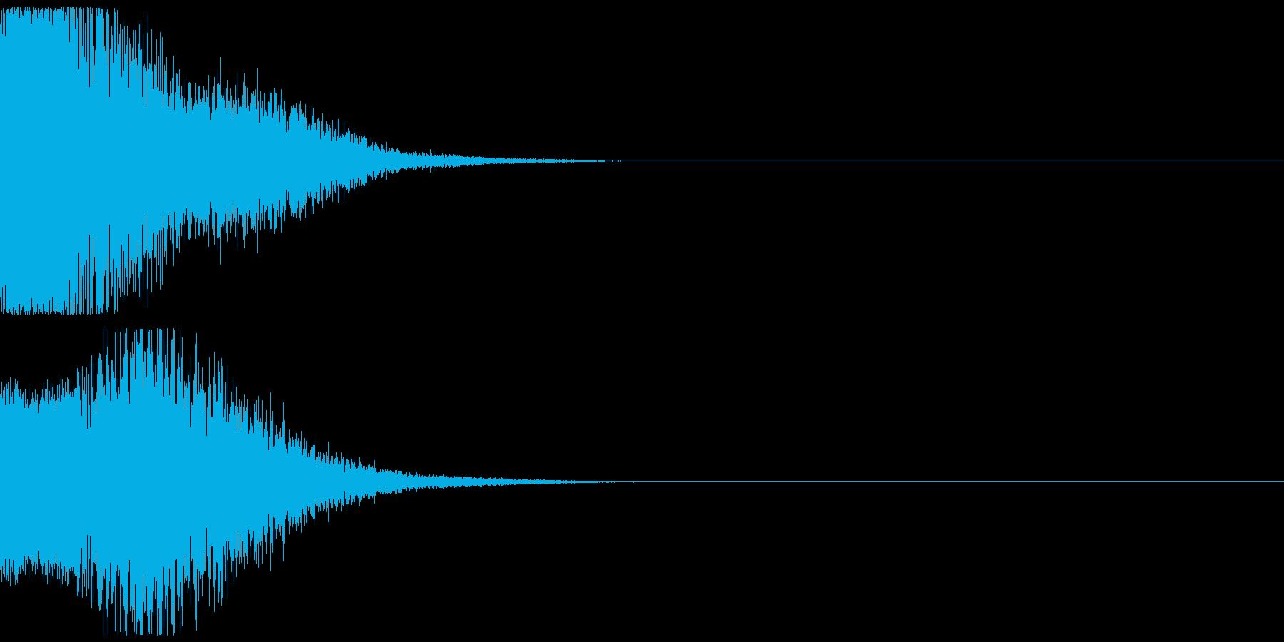 近未来の機械音01の再生済みの波形