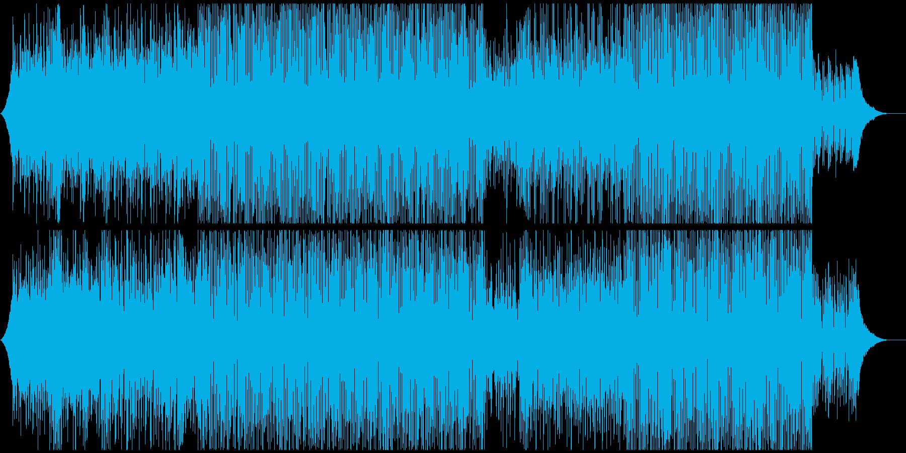 オープニング映像向きおしゃれピアノポップの再生済みの波形